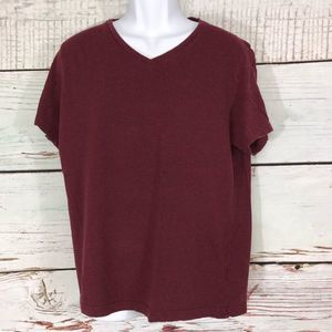 H&M Organic Cotton Blend Short Sleeve V-Neck - XL